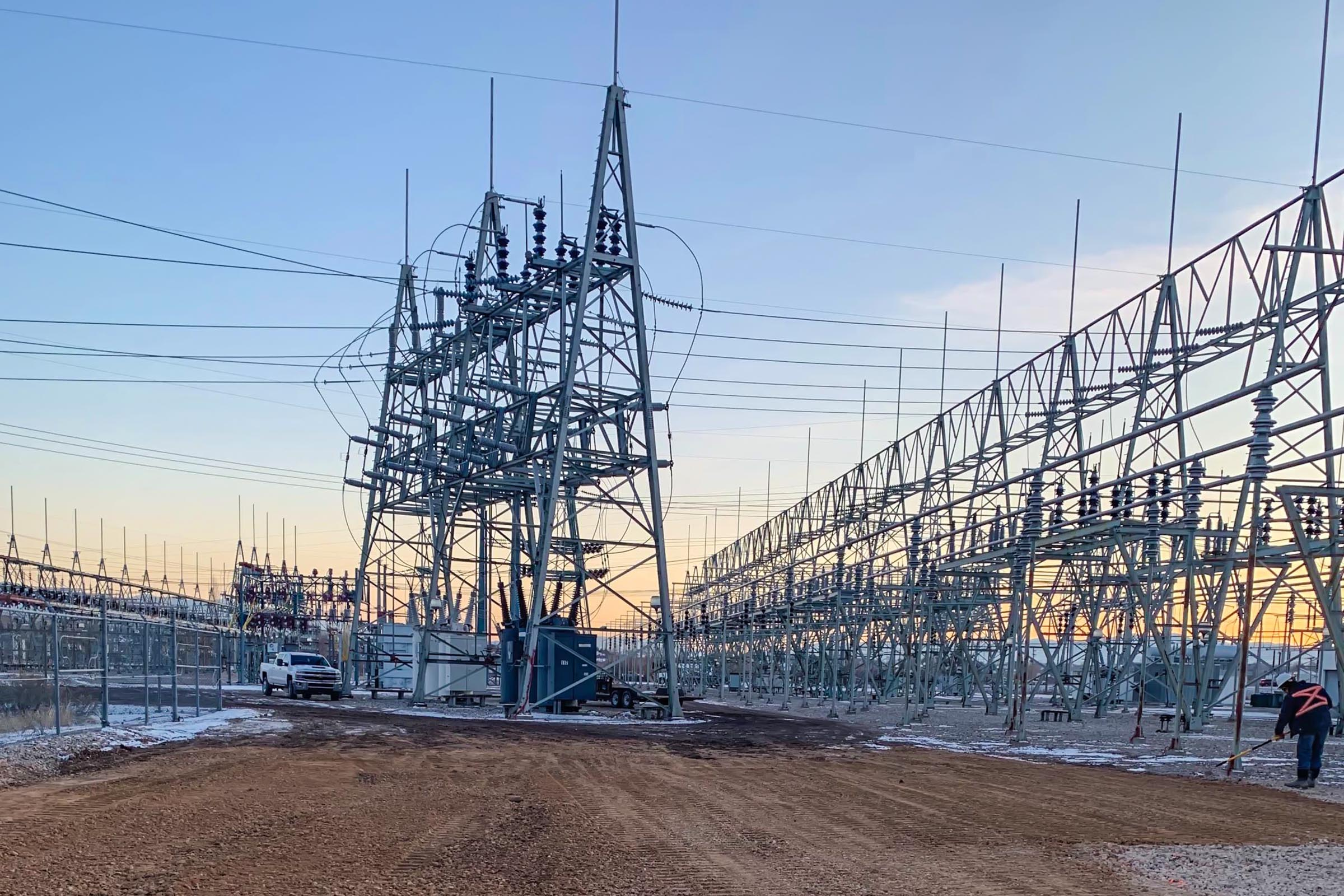 90th South Utah Substation - Grade Tech Power Services