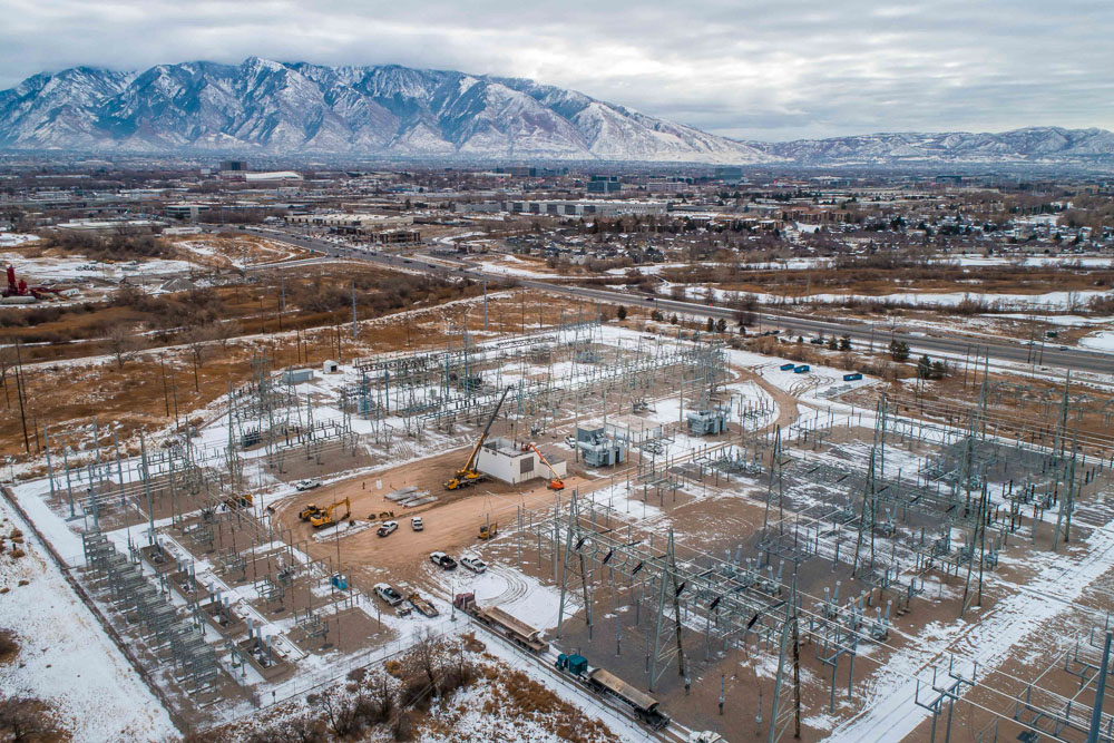 Featured Grade Tech Power Services - 90th South West Jordan Utah Substation-5
