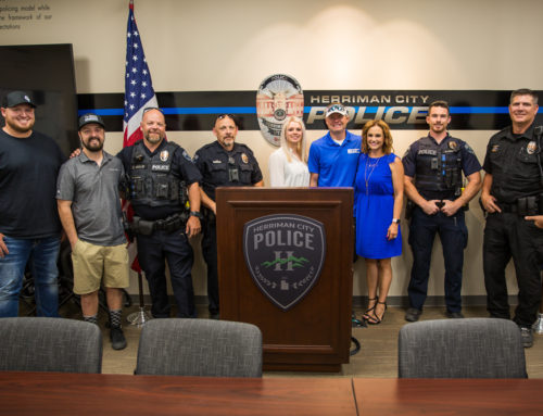 Backing the Blue: Grade Tech Provides Lunch for Herriman Police Department