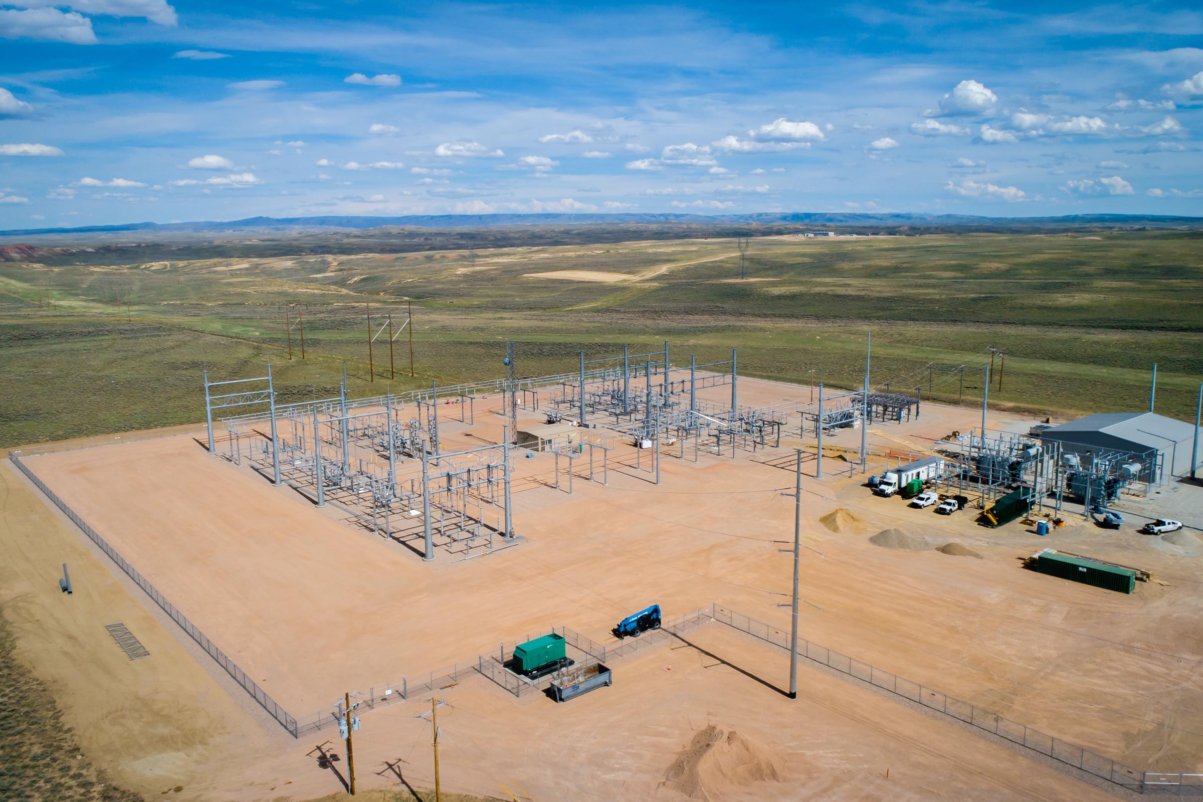 Shirley Basin Substation in Medicine Bow Wyoming- Grade Tech-Aerial 2x3