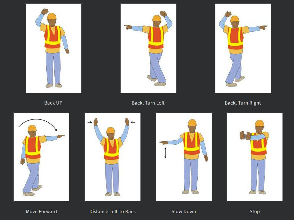 Construction Safety Spotter Signals - Grade Tech Power Services